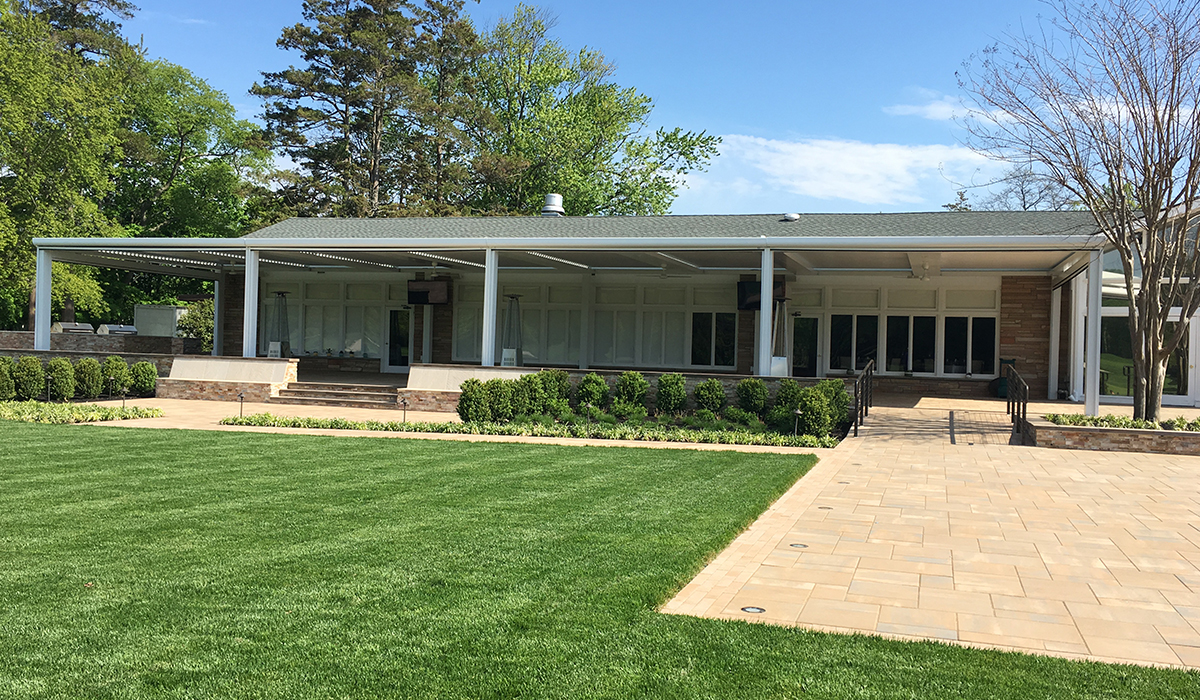 Louvered Roof Motorized Screen Adjustable Pergola