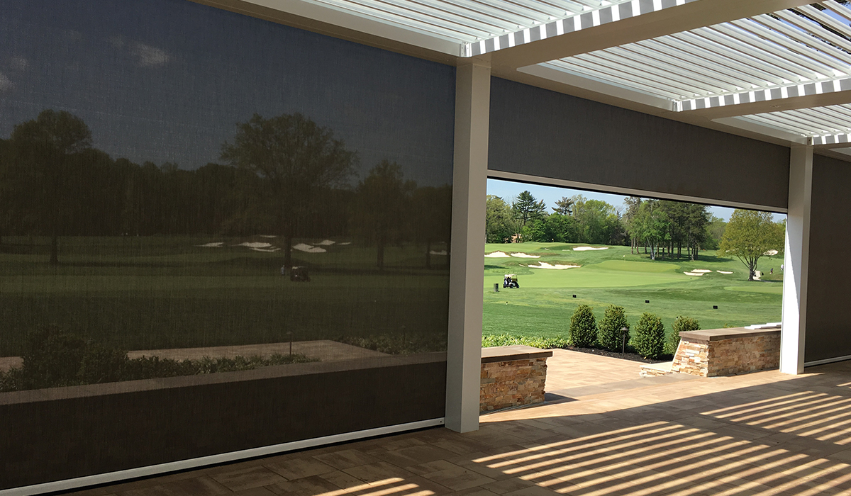 Hollywood Golf Club Louvered Roof and Motorized Screens