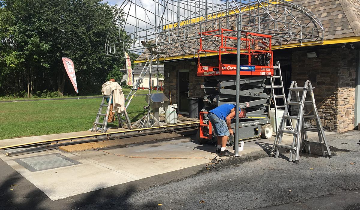 Fixed Canopy Walkway Canopy