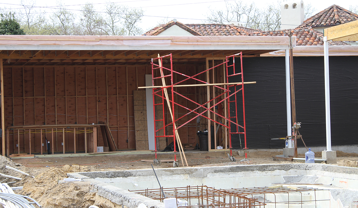 Construction Site, Louvered Roof